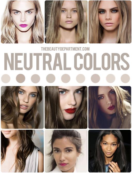 Цвет волос под цвет кожи